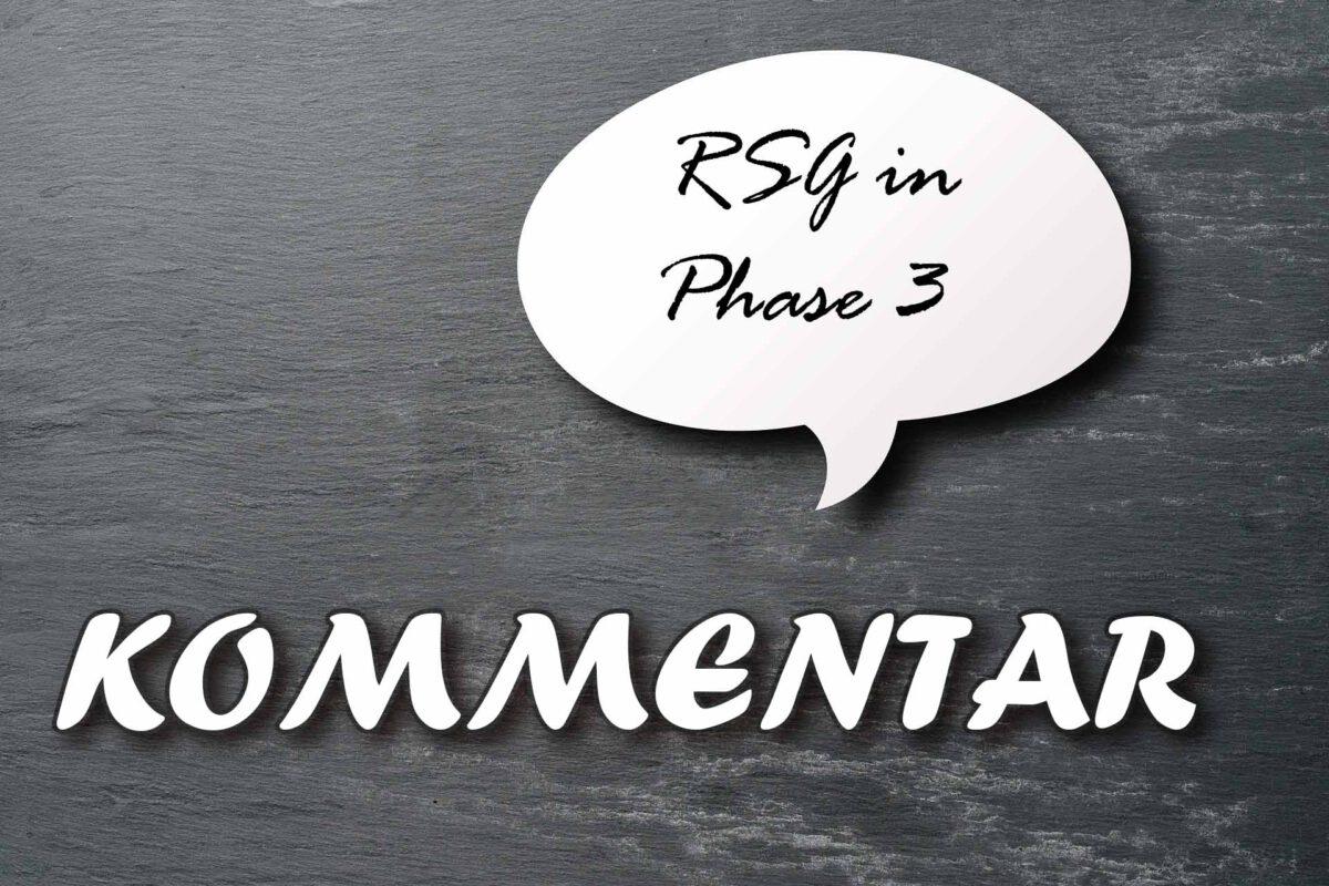 Warum das RSG alles richtig macht | Kommentar